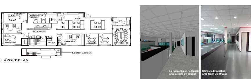 Interior Office Construction Layout