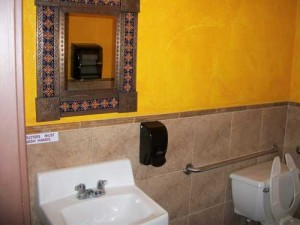 Mexicali Blue Tile Bathroom Design