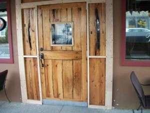 Vigneto Cafe Rustic Exterior Door