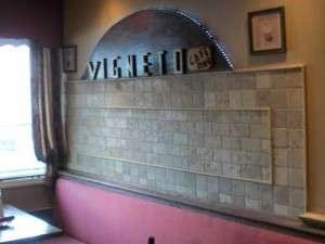 Vigneto Cafe Tiled Wall