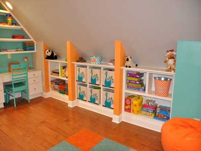 Childrens' Playroom Cabinets