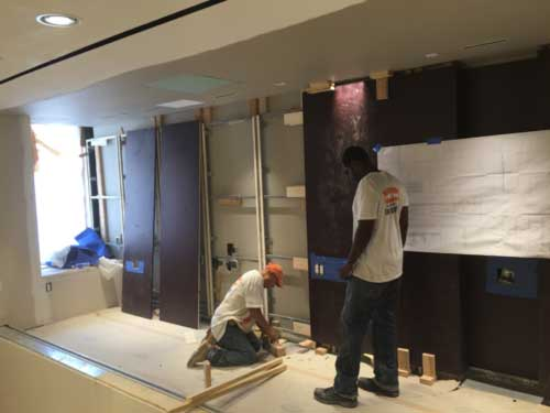Wall fixture construction