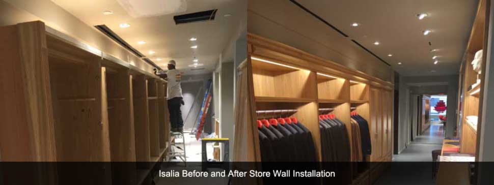 Isalia Construction Before and After