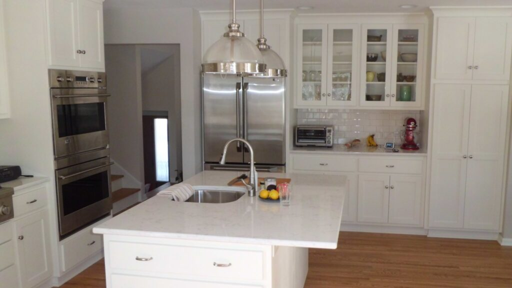 Photo of a completed kitchen remodel